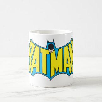 Batman | Vintage Yellow Blue Logo Basic White Mug