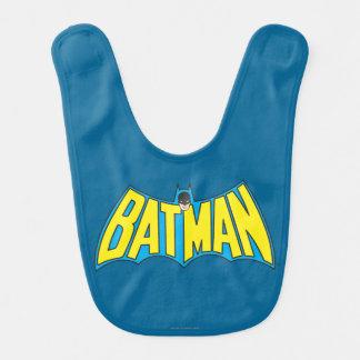 Batman | Vintage Yellow Blue Logo Bib