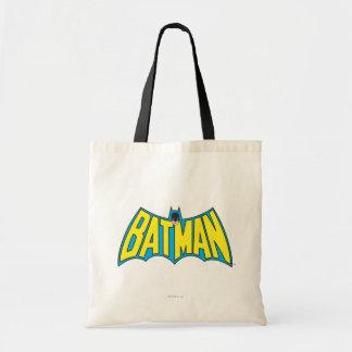 Batman | Vintage Yellow Blue Logo Budget Tote Bag