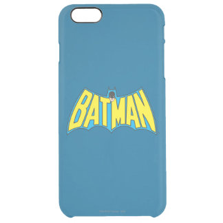Batman | Vintage Yellow Blue Logo Clear iPhone 6 Plus Case