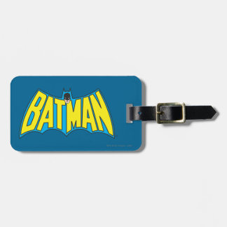 Batman | Vintage Yellow Blue Logo Luggage Tag