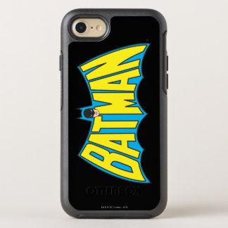 Batman | Vintage Yellow Blue Logo OtterBox Symmetry iPhone 8/7 Case