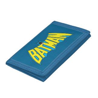 Batman | Vintage Yellow Blue Logo Tri-fold Wallets