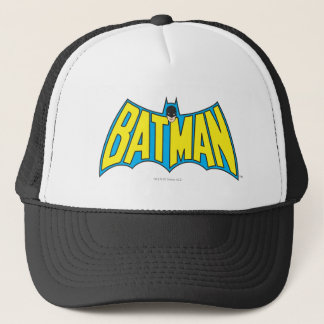 Batman | Vintage Yellow Blue Logo Trucker Hat