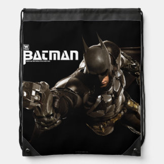 Batman With Batclaw Drawstring Bag