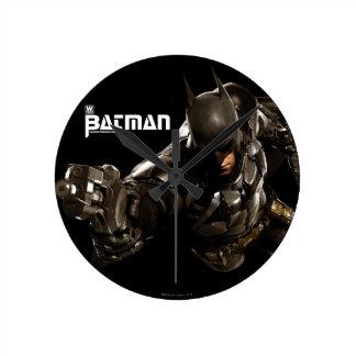 Batman With Batclaw Round Clock