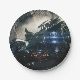 Batman With Batmobile In The Rain 7 Inch Paper Plate