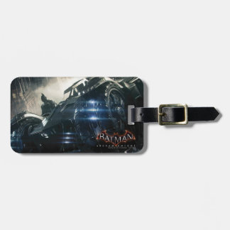Batman With Batmobile In The Rain Luggage Tag