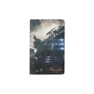 Batman With Batmobile In The Rain Pocket Moleskine Notebook