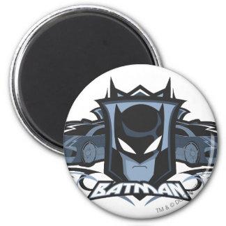 Batman with Batmobiles Magnet