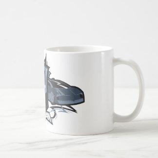 Batman with Batmobiles Coffee Mugs