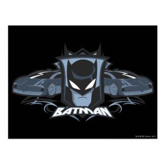 Batman with Batmobiles Postcard