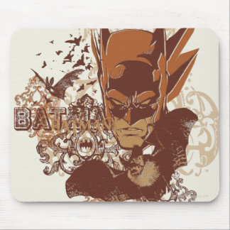 Batman with Bats Collage Mouse Mat