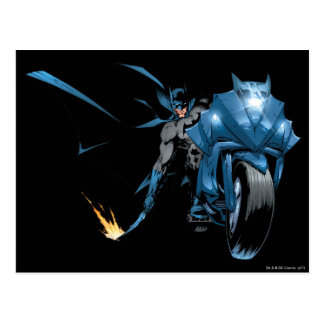 Batman with Cycle Postcard