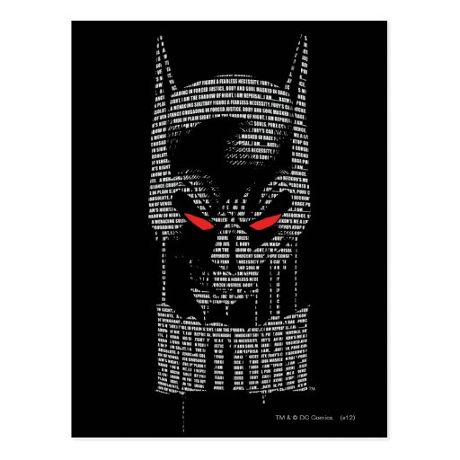 Batman With Mantra Postcards