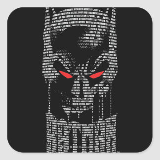 Batman With Mantra Square Stickers