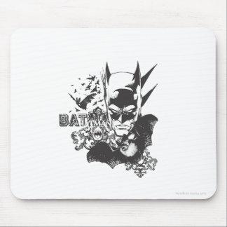Batman with real bat mouse mat