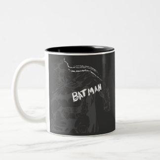 Batman - Wordy Two-Tone Coffee Mug