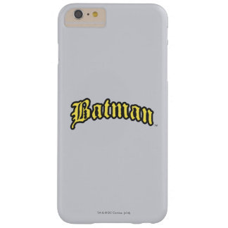 Batman | Yellow Black Outline logo Barely There iPhone 6 Plus Case