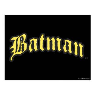Batman | Yellow Black Outline logo Postcard