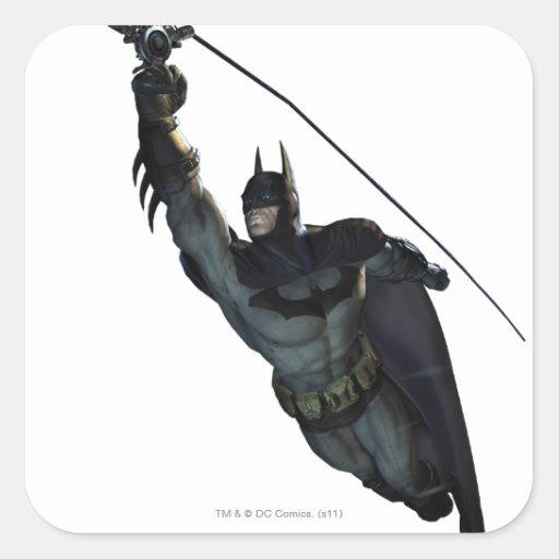 Batman Zip Line Square Stickers