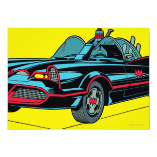 Batmobile 13 Cm X 18 Cm Invitation Card