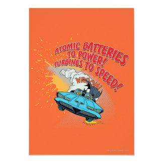 Batmobile Graphic 13 Cm X 18 Cm Invitation Card