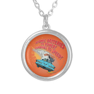 Batmobile Graphic Silver Plated Necklace
