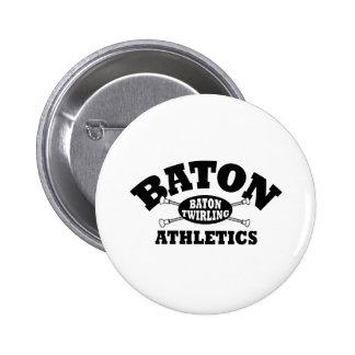 Baton Athletics 6 Cm Round Badge