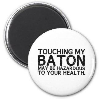 Baton Hazard 6 Cm Round Magnet