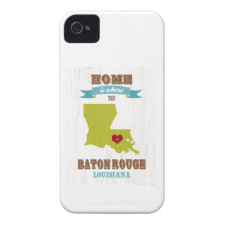 Baton Rouge, Louisiana Map – Home Is Where iPhone 4 Case-Mate Case