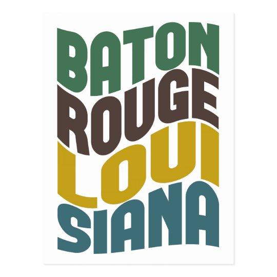 Baton Rouge Louisiana Retro Wave Postcard