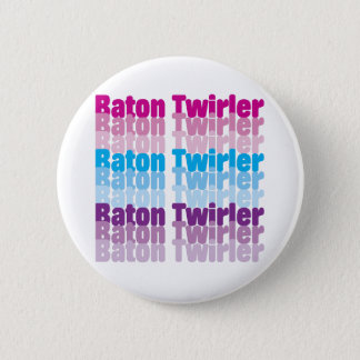 Baton Twirler 6 Cm Round Badge