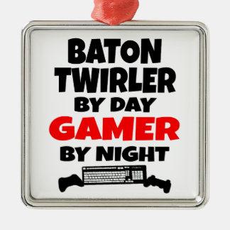 Baton Twirler by Day Gamer by Night Christmas Ornament