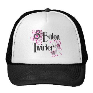 Baton Twirler Circle Swirls Hats