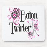 Baton Twirler Circle Swirls Mouse Pad