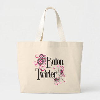 Baton Twirler Circle Swirls Tote Bags