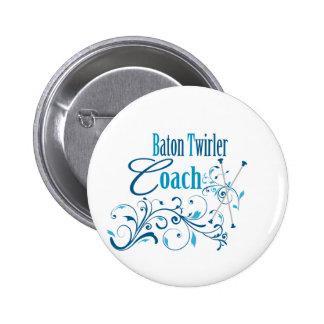 Baton Twirler Coach Swirly 6 Cm Round Badge