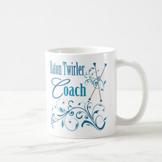 Baton Twirler Coach Swirly Coffee Mugs