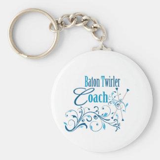 Baton Twirler Coach Swirly Keychain
