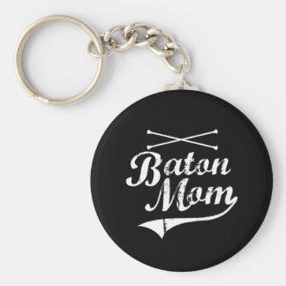 Baton Twirler Mom Keychains