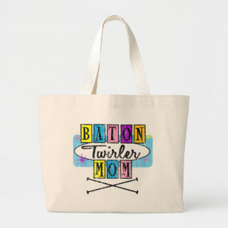 Baton Twirler Mom Retro Bags