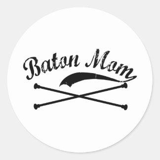 Baton Twirler Mom Stickers