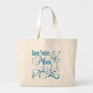 Baton Twirler Mom Swirly Tote Bag