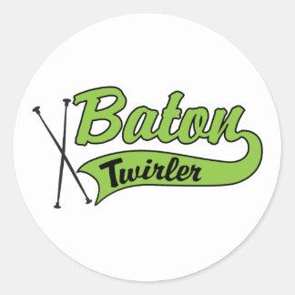 Baton Twirler Round Sticker