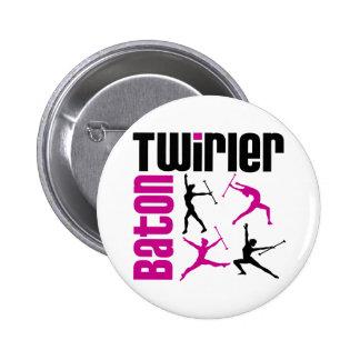 Baton Twirler Square 6 Cm Round Badge