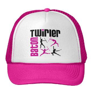 Baton Twirler Square Mesh Hat