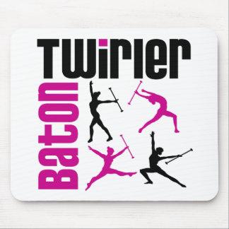 Baton Twirler Square Mouse Pad