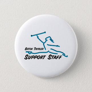 Baton Twirler Support Staff 6 Cm Round Badge