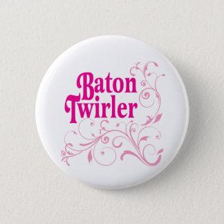 Baton Twirler Swirly 6 Cm Round Badge